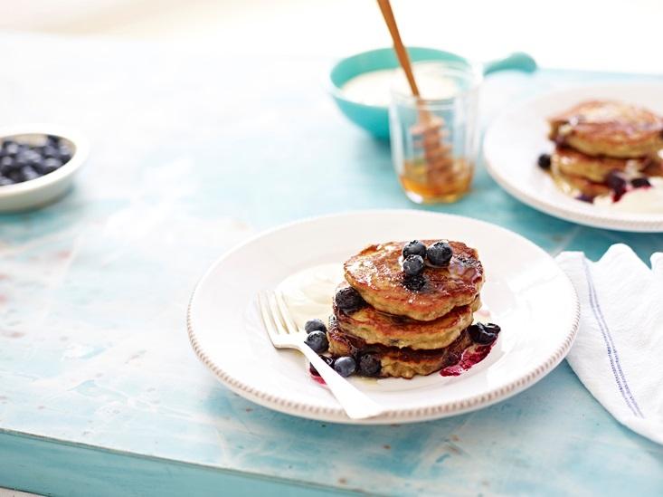 Australian-Eggs-BananaBlueberryAlmond-Pancakes