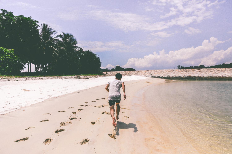 Beach Sand Running