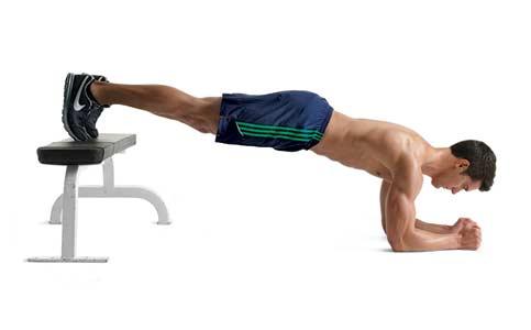 elevated feet plank