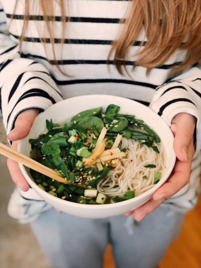 healthy asian green stir fry
