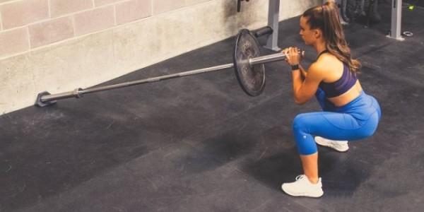 landmine squat