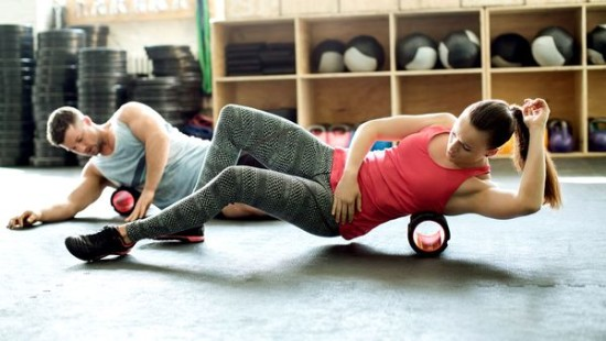 Foam Rolling at the Gym