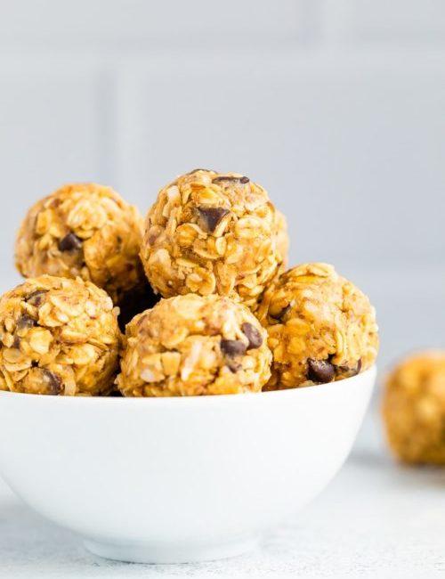 No Bake Energy Peanut Butter Balls